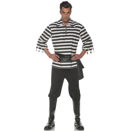 Black and White Pirate Men's Adult Halloween - Black And White Halloween Costume