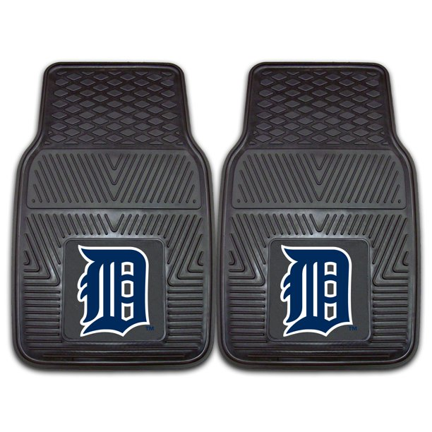 "Detroit Tigers 2-pc Vinyl Car Mats 17""x27"""