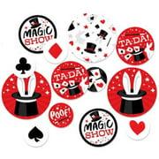 Ta-Da, Magic Show - Magical Birthday Party Giant Circle Confetti - Party Decorations - Large Confetti 27 Count