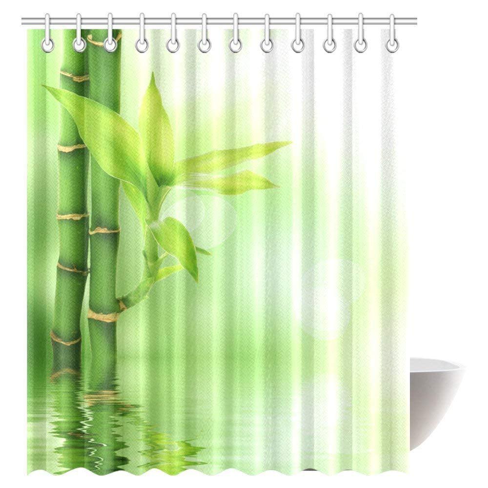 GCKG Bamboo House Decor Shower Curtain Mildew Resistant Bathroom