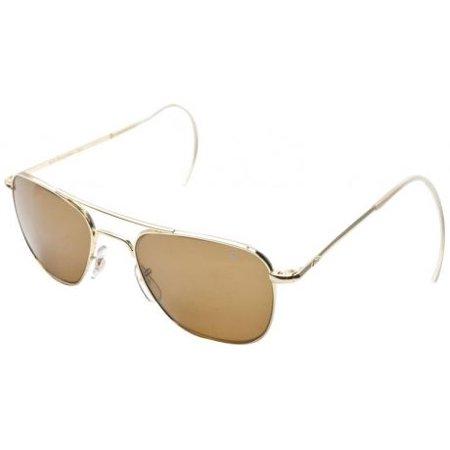AO Original Pilot Sunglasses, Comfort Cable, Gold Frame, Brown Glass ...