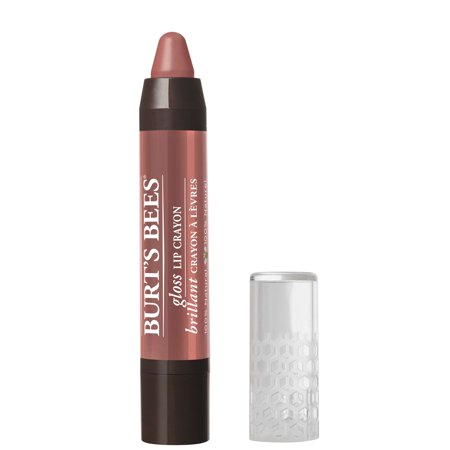 Burt's Bees 100% Natural Moisturizing Gloss Lip Crayon, Santorini Sunrise - 1 Crayon](Red Wax Lips)