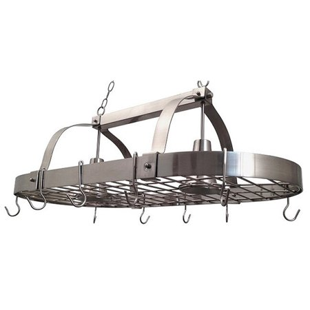 - Elegant Designs 2 Light Kitchen Pot Rack with Downlights