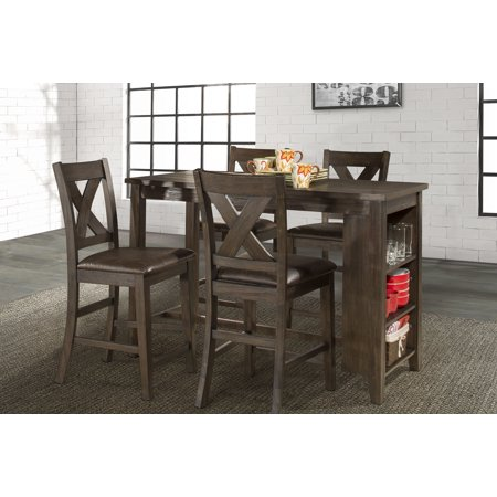 Hillsdale Furniture Spencer 5 Piece Counter Height Dining Set With X