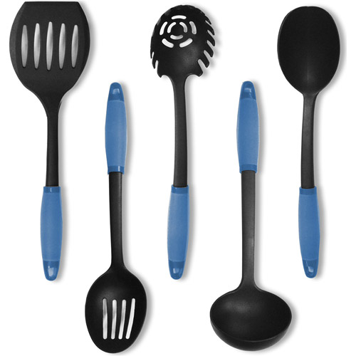 In Kitchen Gel Grip Nylon Utensils, Set of 5