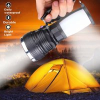 Solar Power Rechargeable Battery LED Flashlight Camping Tent Light Lantern Lamp-US Plug
