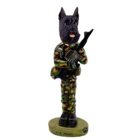 NO.DOOG13A83 Schnauzer Black U.S. Army Doogie Collectable Figurine