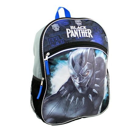 Marvel Black Panther Boy's 16 inch School Backpack BPCF01TR - Carolina Panthers Backpack
