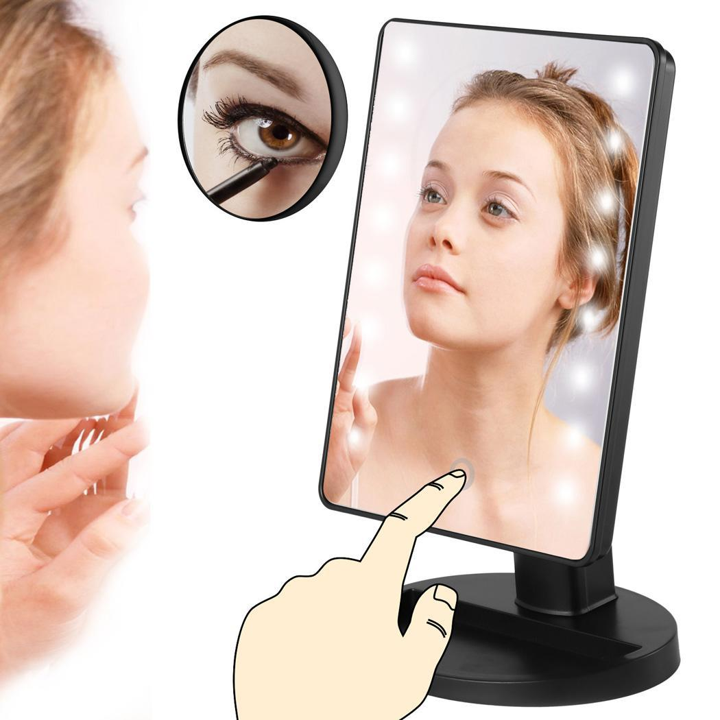 Makeup Mirror with LED Lights 10x Magnification Spot Mirror