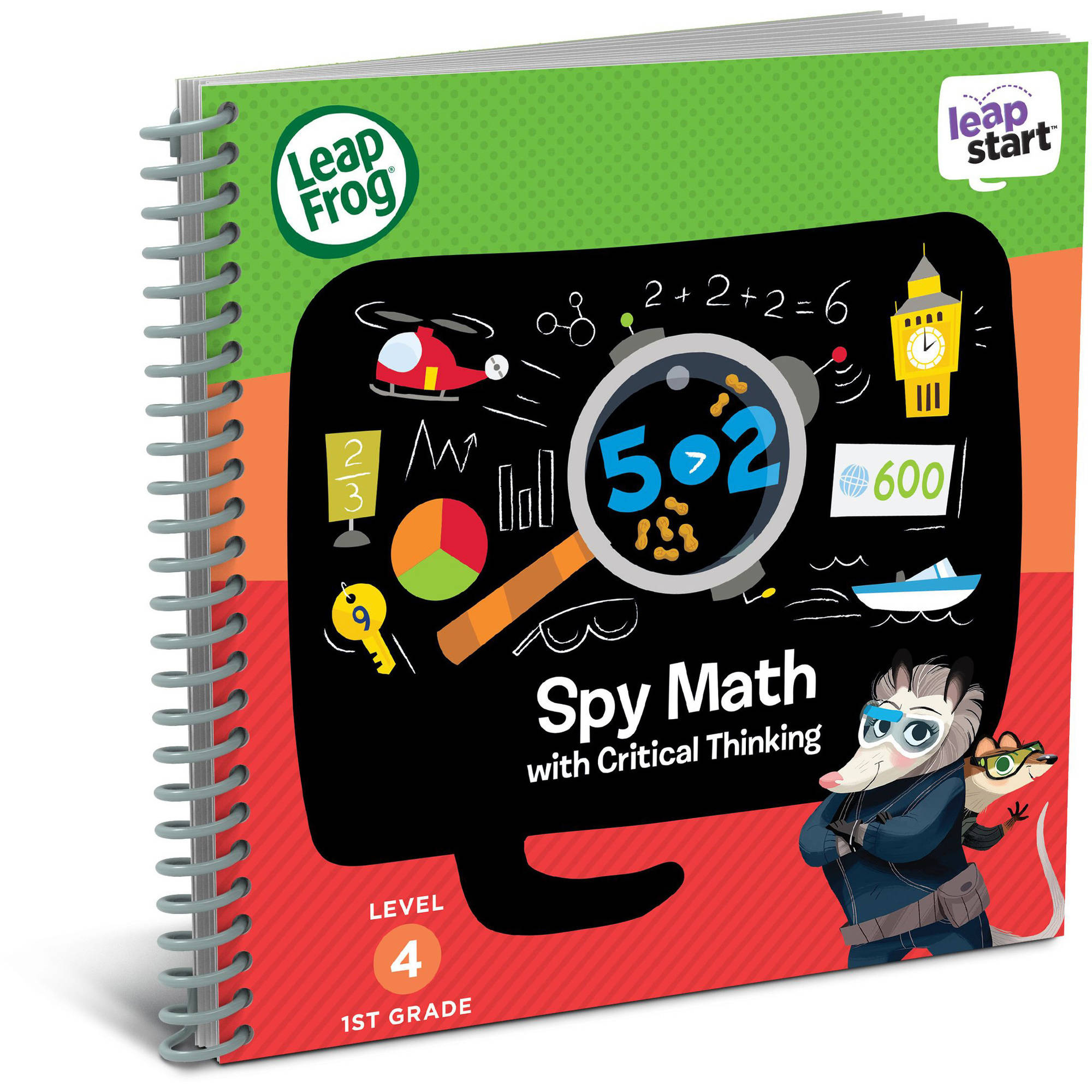 LeapFrog LeapStart 1st Grade Activity Book: Spy Math and Critical Thinking by Generic