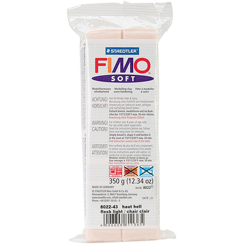 Staedtler Fimo Soft Polymer Clay, 12.34 oz, Pink Flesh