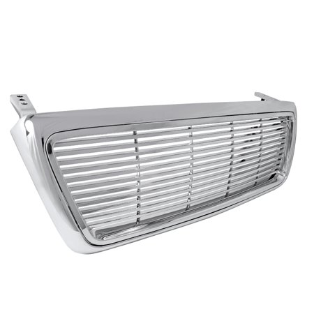 Spec-D Tuning 2004-2008 Ford F150 Abs Front Hood Grill Chrome Billet Grille 04 05 06 07 08