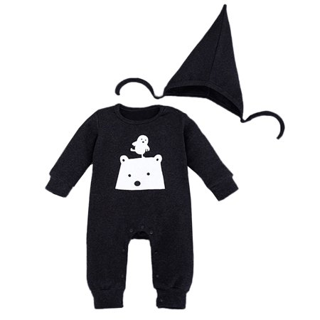 Polar Bear Outfit (StylesILove Polar Bear Baby Coverall Romper and Hat 2-piece (12-18 Months,)