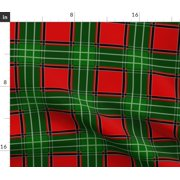 Tartan Plaid Christmas Red And Green Richelieu Fabric Printed by Spoonflower BTY