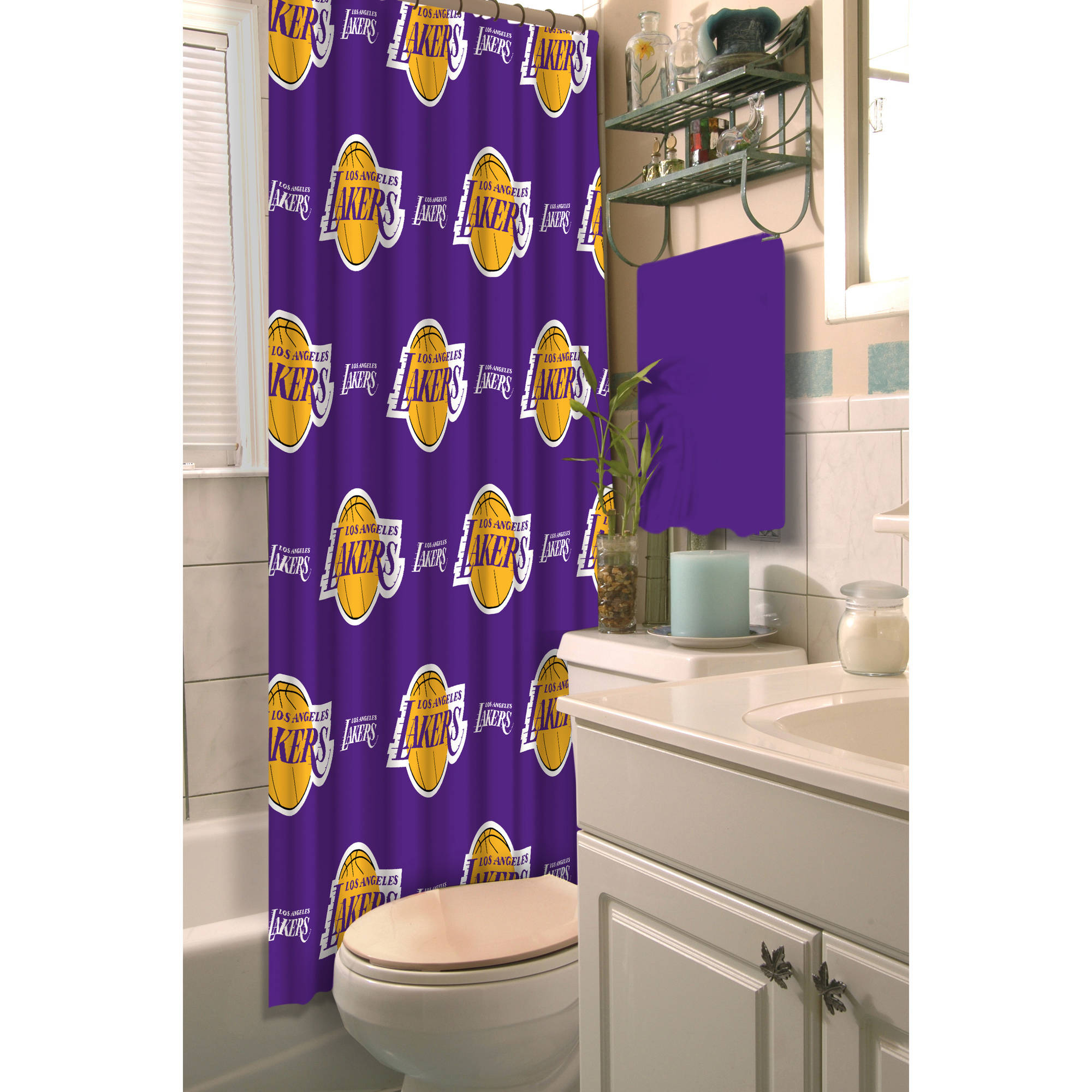 "NBA Los Angeles Lakers 72"" x 72"" Shower Curtain, 1 Each"