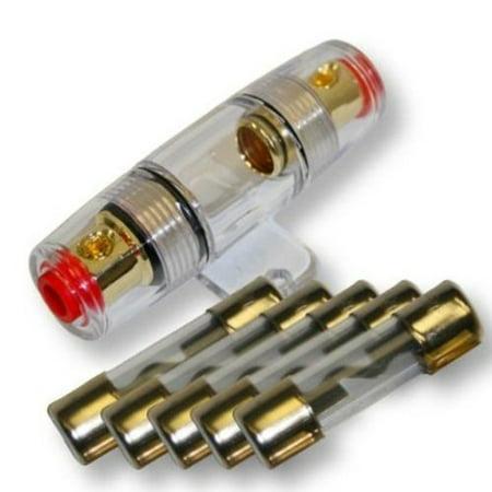 American Terminal 5 pack 80 Amp Inline AGU Fuse Holder Fits 4 8 10 Gauge Wire