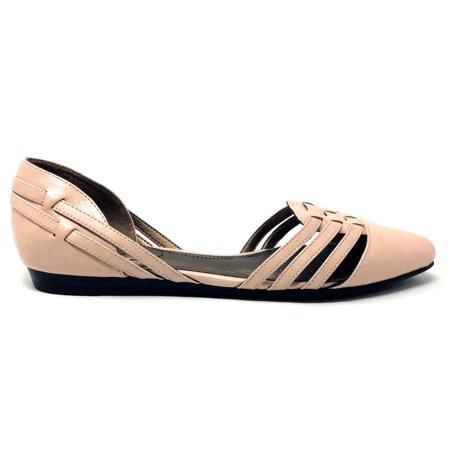 Bloch Glitter Shoes (LifeStride Womens Qutie Slip On Flat Shoe Blush Pink Faux Leather Size 7.5)