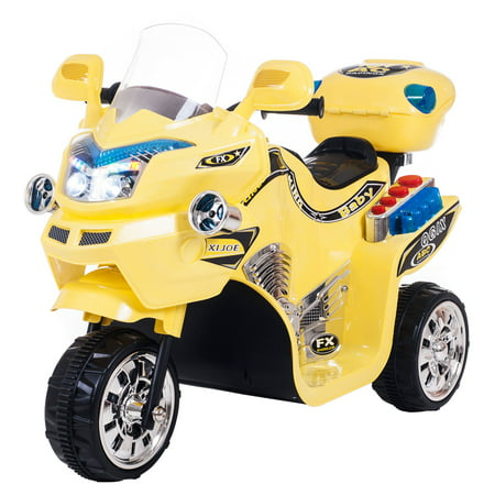 Splatter Motorcycle - Ride on Toy, 3 Wheel Motorcycle for Kids, Battery Powered Ride On Toy by Lil' Rider - Ride on Toys for Boys and Girls, 2 - 5 Year Old - Yellow FX