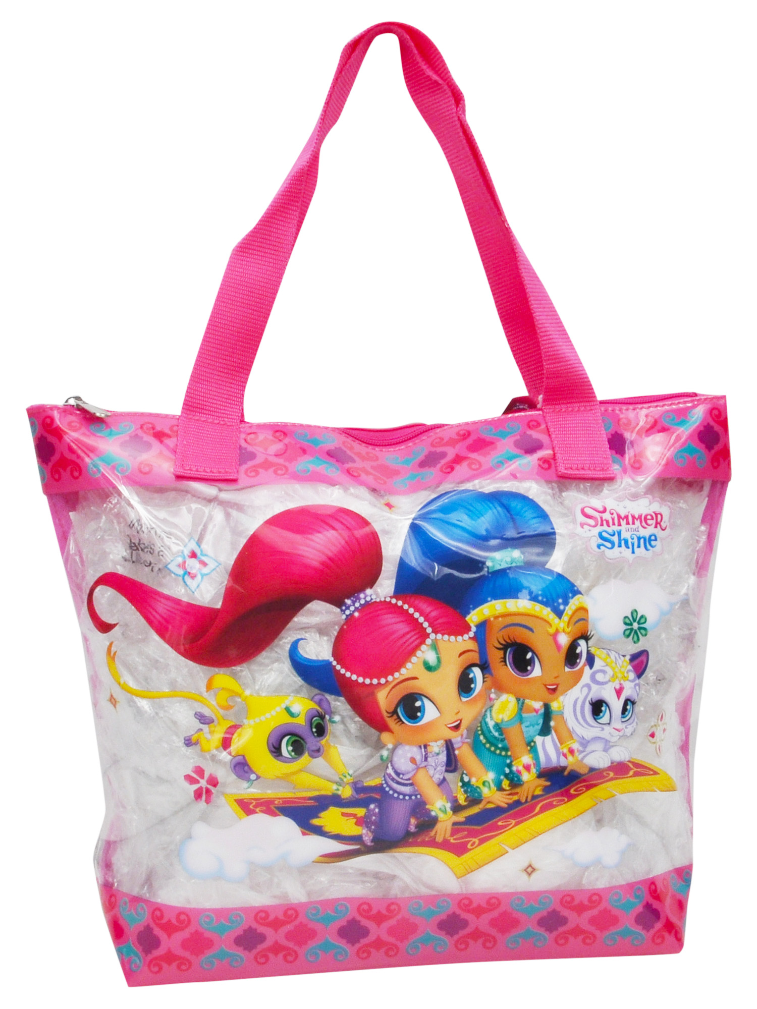 Girls Shimmer & Shine Large Clear Zip Tote Bag