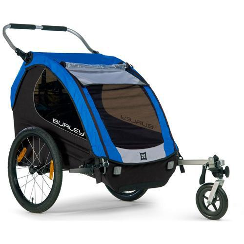 Burley Encore Trailer with 1-Wheel Stroller Kit - Blue