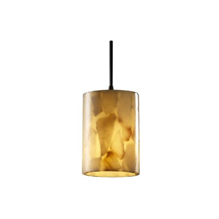 Justice Design Group ALR-8815-10-DBRZ 1 Light Mini Pendant from the Alabaster Rocks! Collection, Dark Bronze Alabaster Rocks 12 Light