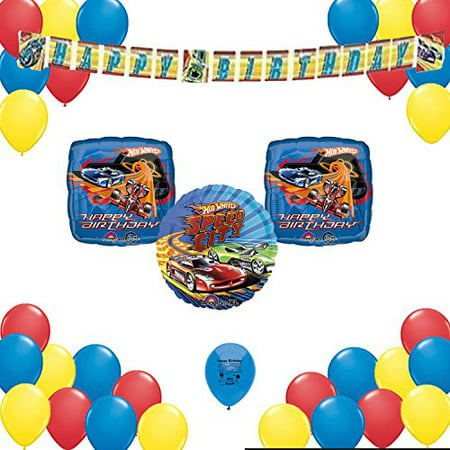 Hot Wheels Birthday Party Supplies Decorations 34 Balloon Count Decorating Set - Hot Wheels Birthday Party Ideas