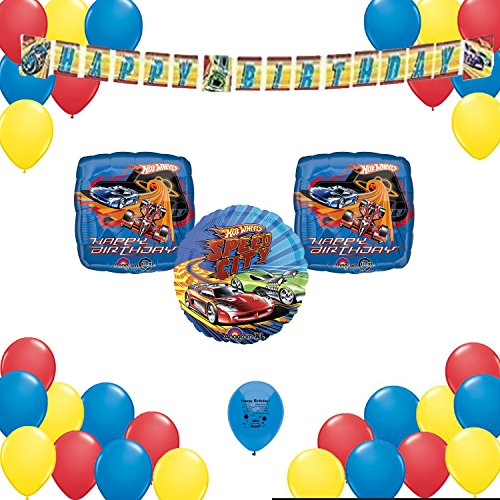 Hot Wheels Birthday Party Supplies Decorations 34 Balloon Count Decorating Set