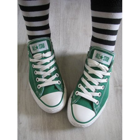 Canvas Print All Star Shoes Stripes Converse Chucks Green Stretched Canvas 10 x -