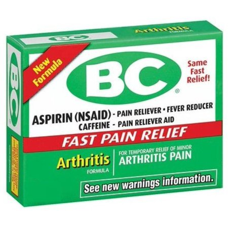 Bc Arthritis Formula Pain Reliever Powders 6 Ea  Pack Of 3
