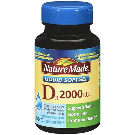 Nature Made Vitamin D3 Liquid Softgels, 250 ct
