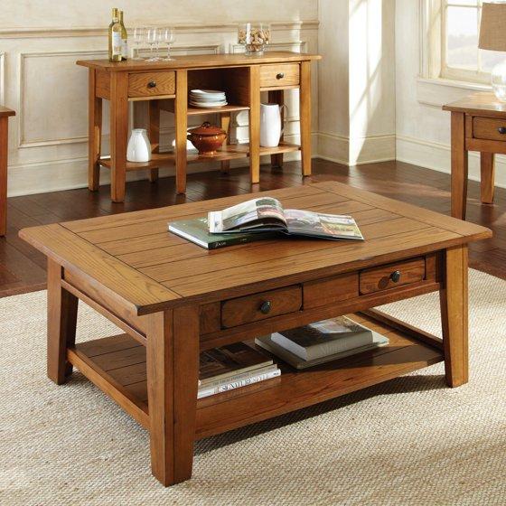 Steve Silver Liberty Rectangle Oak Wood Coffee Table