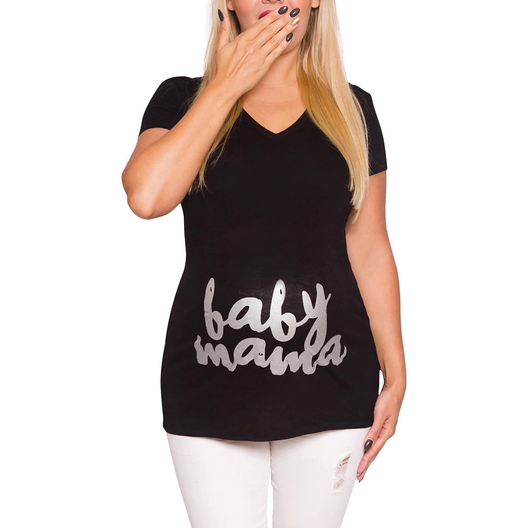 Mommylicious Maternity Baby Mama Slogan Tees