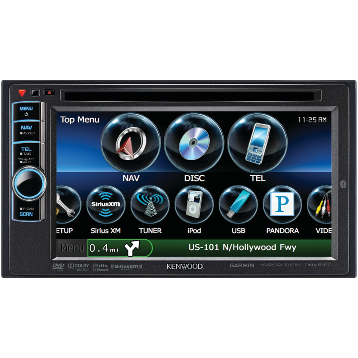 """KENWOOD DNX5190 6.1"""" Double-DIN In-Dash Navigation Receiver with DVD &  Bluetooth(R) - Walmart.com"""