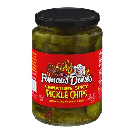 Famous Dave's Signature Spicy Pickle Chips 24 fl. oz. Jar