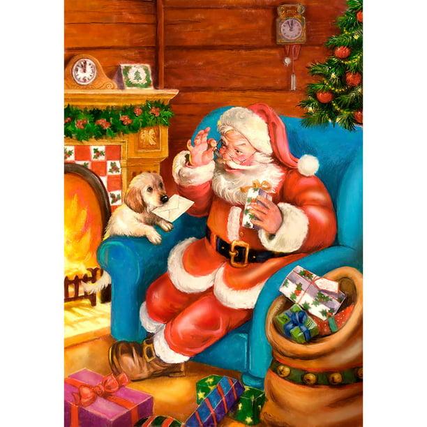 Christmas Present Festival Decor Santa Claus Full Drill 5D Diamond Painting Kits