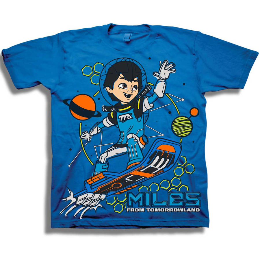 Disney Miles From Tomorrowland Toddler Boy Short Sleeve Graphic T-Shirt