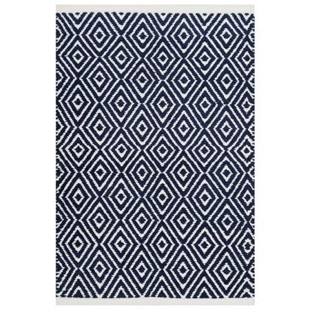Safavieh Boston 4' Square Hand Woven Cotton Pile Rug in Navy - image 2 of 2