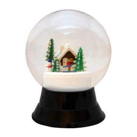 the holiday aisle perzy large ski cabin snow globe - Large Christmas Snow Globes
