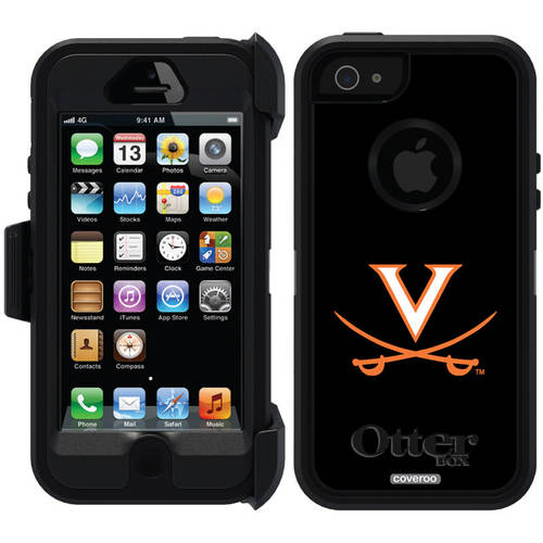 University of Virginia Swords Orange Design on OtterBox Defender Series Case for Apple iPhone 5/5s