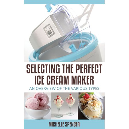 Selecting The Perfect Ice Cream Maker An Overview Of The Various Types - eBook Whether you are using grandmas old hand-cranked ice cream maker, or one of the modern toss-ball types, there are some constants that are good to keep in mind while making ice cream at home.Crank freezers tend to have a larger 2-4 quart capacity than other ice cream makers, especially in the older models. More modern ice cream makers that do not require ice tend to be of 1-2 quart capacity.If you are making small batches with the ice-less type and want to make larger quantities, you might freeze the ice cream in separate smaller containers, or combine the batches in a larger container in your regular freezer.If you are making larger amounts for a gathering, make most of your ice cream in advance so as not to squander large blocks of time manning the ice cream maker while you have guests. Selecting The Perfect Ice Cream Maker by Michelle Spencer is perfect in helping you find the best Ice Cream Maker for making Ice Cream in the comfort of your home.Be sure to read the manufacturers instructions with any ice cream maker, crank or otherwise. Unless otherwise instructed, always start your project by washing the lid, can, and dasher (scraper) with hot soapy water.Be sure to rinse everything well, and scald with boiling water. This will sterilize your equipment, preventing bacteria from getting to the milk or cream in your mix. Check your lid and make sure it fits well to prevent leaking. Find out more trade secrets on how to make the best homemade ice cream and how to select that great ice cream maker.