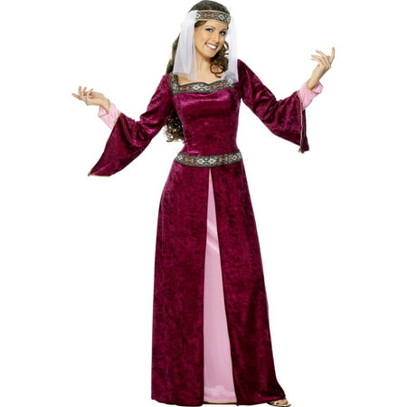 Smiffys Medieval Maid Marion Juliet Dress Halloween Costume - Mideval Dress