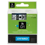 DYMO Standard D1 53710 Labeling Tape ( Black Print on Clear Tape , 1'' W x 23' L , 1 Cartridge)