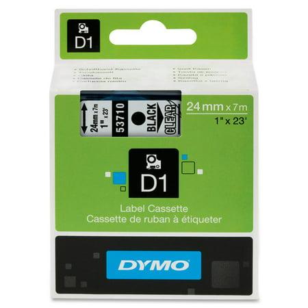 DYMO Standard D1 53710 Labeling Tape ( Black Print on Clear Tape , 1'' W x 23' L , 1