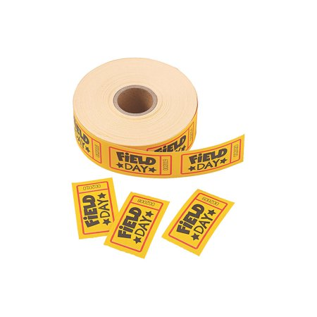 Fun Express - Field Day Incentive Roll Tickets - Party Supplies - Entertainment - Admission Tickets & Wristbands - 1 Piece - Fun Express Tickets