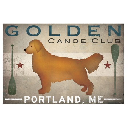 Popular Golden Canoe Club Portland, ME Print by Ryan Fowler; One 18x12in Paper Poster (Best Delivery In Portland)