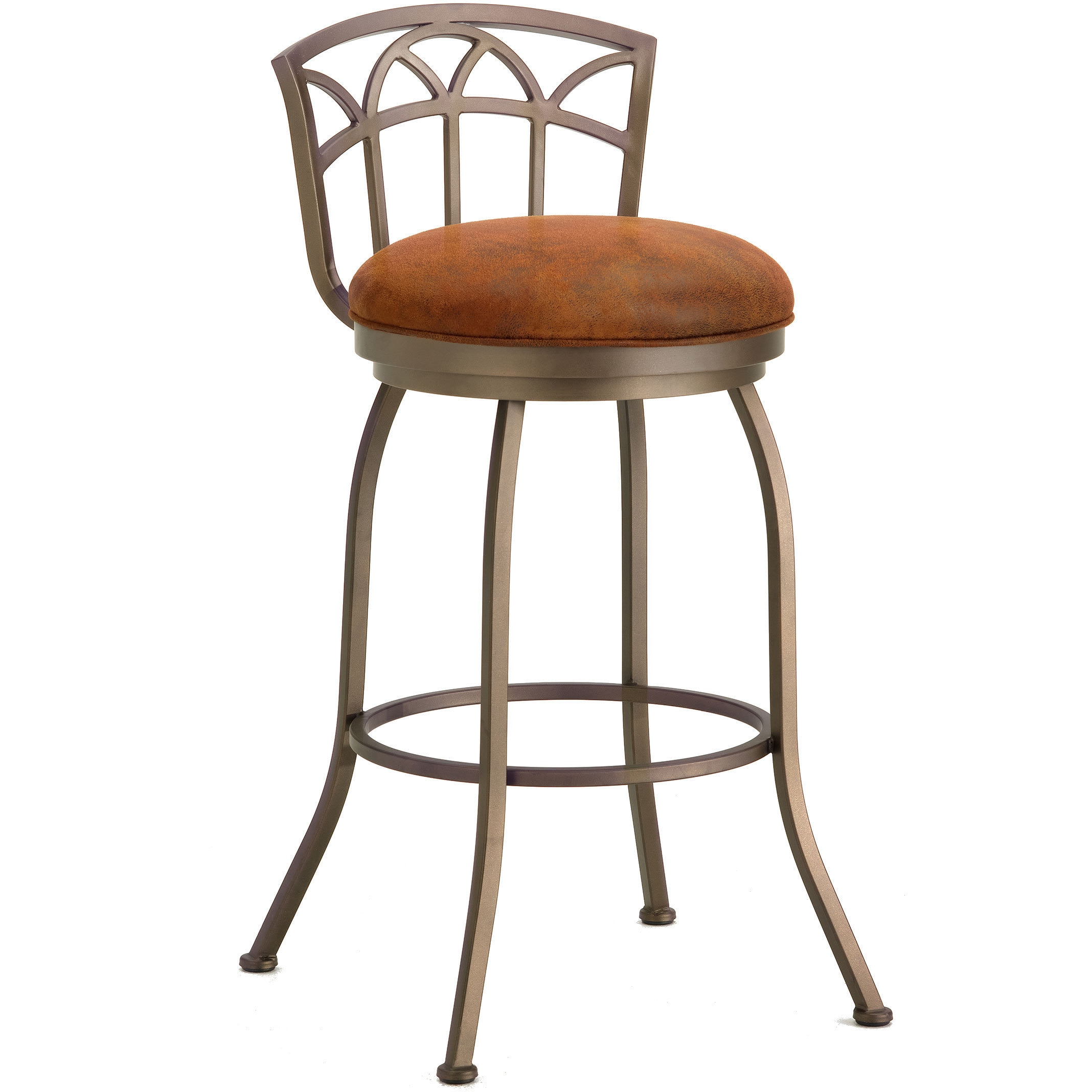Fiesole Swivel Low Back Bar Stool Rust Radar Nugget