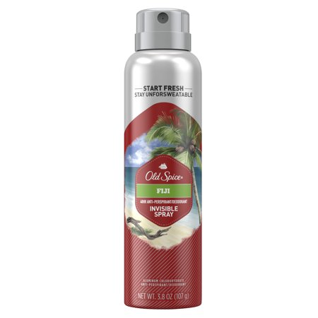 Old Spice Invisible Spray Antiperspirant and Deodorant for Men, Fresher Fiji, 3.8 Oz.