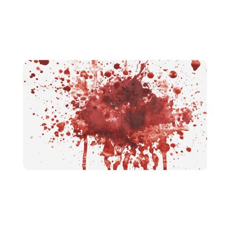 MKHERT Funny Splattered Blood Stain Horror Halloween Theme Doormat Rug Home Decor Floor Mat Bath Mat 30x18 inch - Halloween Blood Stains