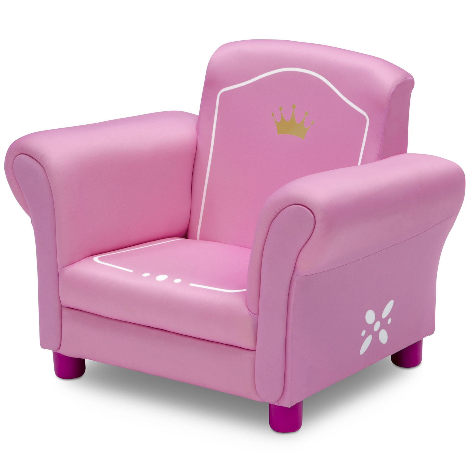 Tremendous Delta Children Princess Crown Kids Upholstered Chair White Pink Uwap Interior Chair Design Uwaporg