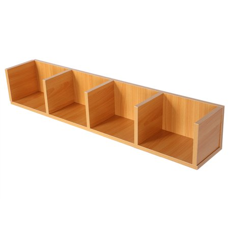 Ashata Modern Wall Mount Display Shelf CDs/DVDs Organizer Storage Rack Wooden Unit 4 Cases, CD Display Shelf,Display Shelf ()